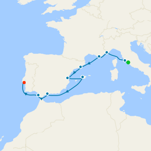 Mediterranean from Rome to Lisbon