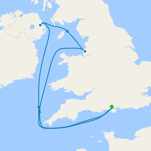 5 Nt British Isles Coastal Summer Holiday from Southampton