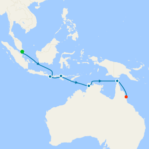 Asia, Australia & New Zealand from Singapore to Cairns