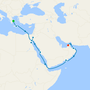 Africa & Indian Ocean from Athens to Dubai