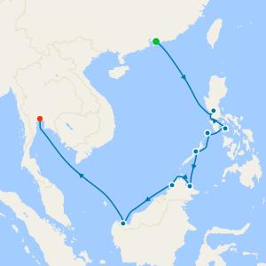 Asia from Hong Kong to Bangkok (Klong Toey)