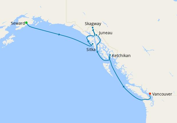 Otters, Bears & Bald Eagles - Seward to Vancouver