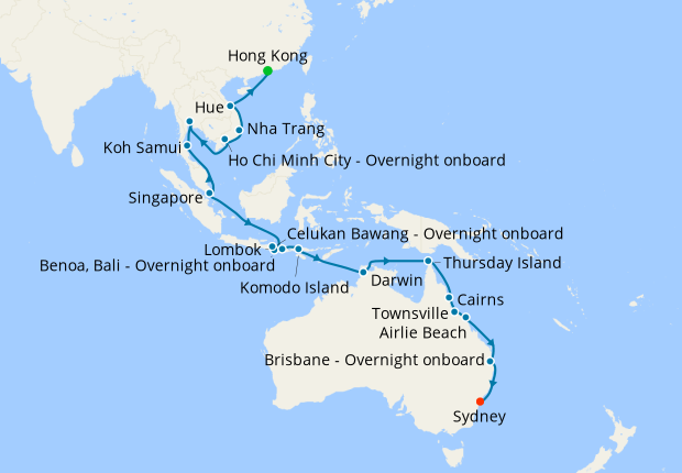Culinary Delights & Wild Wonders - Hong Kong to Sydney