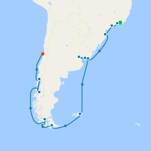 Antarctic Peninsula Disco - Rio de Janeiro to Santiago (San Antonio)