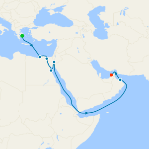 Ancient Trade Routes from Athens to Dubai