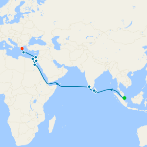 Spice Route Voyage from Singapore to Athens