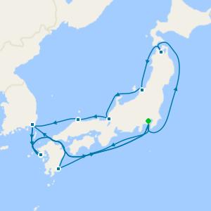Sea of Japan & Kyushu from Tokyo