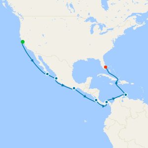 Panama Canal - Ocean to Ocean from San Francisco