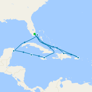 Western & Eastern Caribbean from Miami