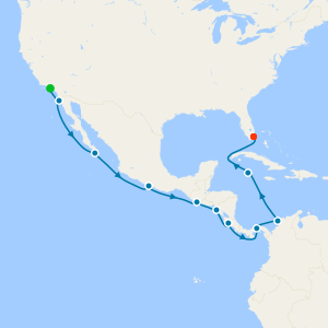 Panama Canal Adventure from Los Angeles to Miami