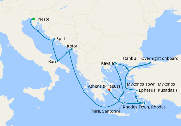 Ancient Adriatic from Venice to Athens