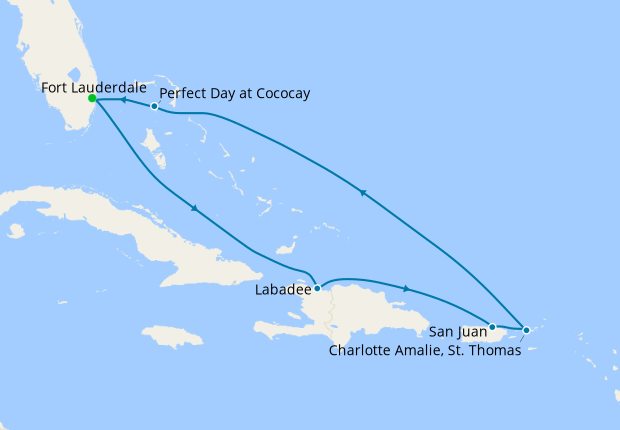 Eastern Caribbean & Perfect Day from Ft. Lauderdale
