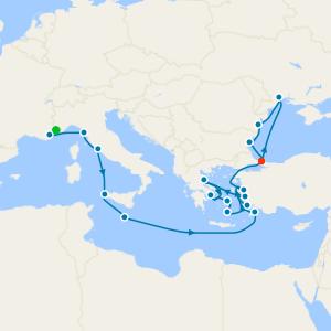 Cote D'Azur to Black Sea Gems from Monte Carlo to Istanbul