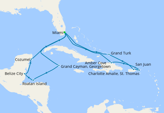 Carnival Magic Map on