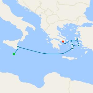 da La Valletta a Pireo (Atene)