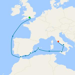 da Southampton a Civitavecchia