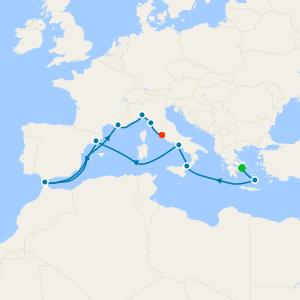 da Pireo (Atene) a Civitavecchia