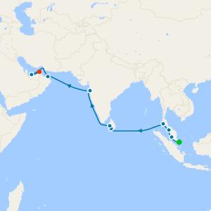da Singapore a Dubai